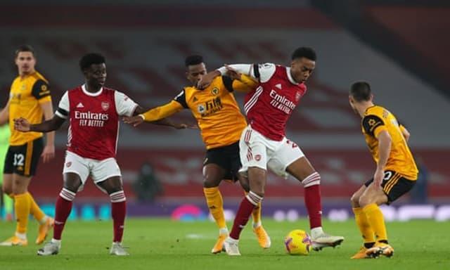 Wolves có thế trận rất hợp lý khi làm khách của Arsenal