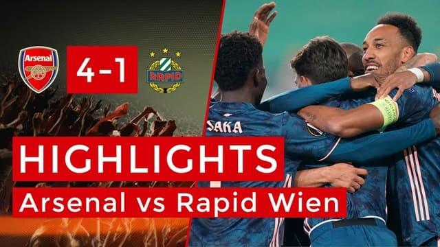Video Highlight Arsenal - Rapid Wien