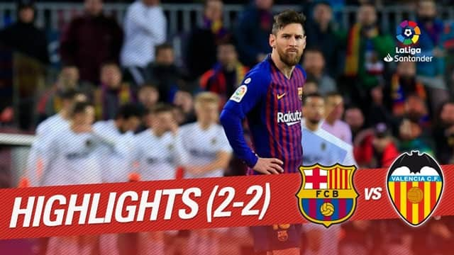Video Highlight Barcelona - Valencia