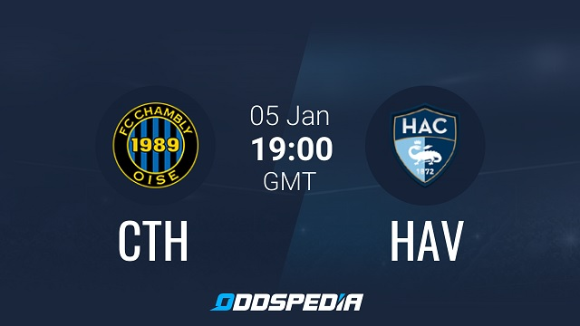 Chambly vs Le Havre, 02h00 - 06/01/2021 - Hạng 2 Pháp