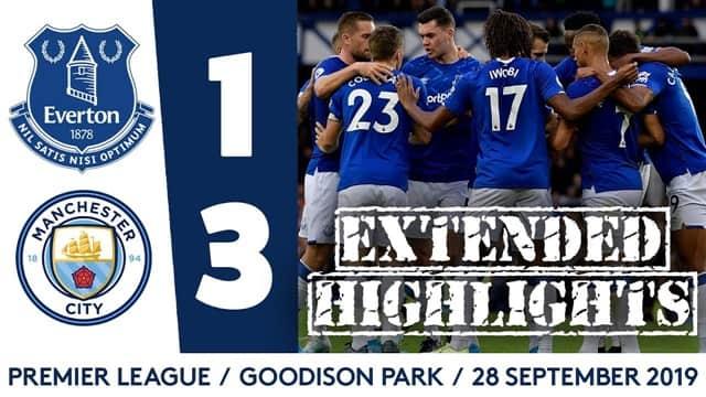 Video Highlight Everton - Man City