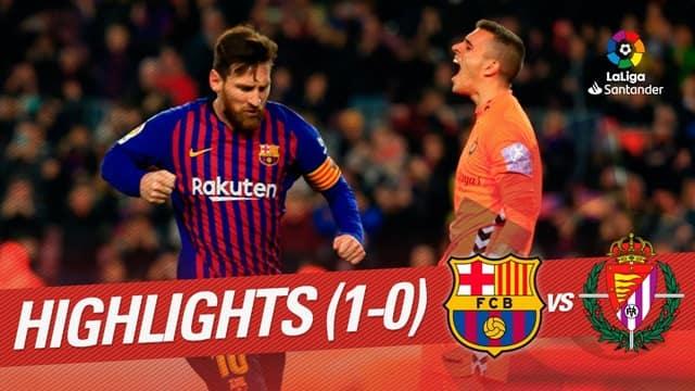 Video Highlight Barcelona - Valladolid