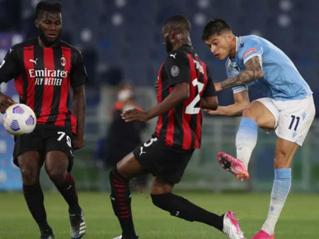 Milan gặp nhiều khó khăn trước một Lazio chơi thăng hoa