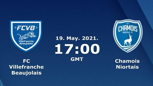 Chamois Niortais vs Villefranche, 01h45 - 23/05/2021 - Hạng 2 Pháp