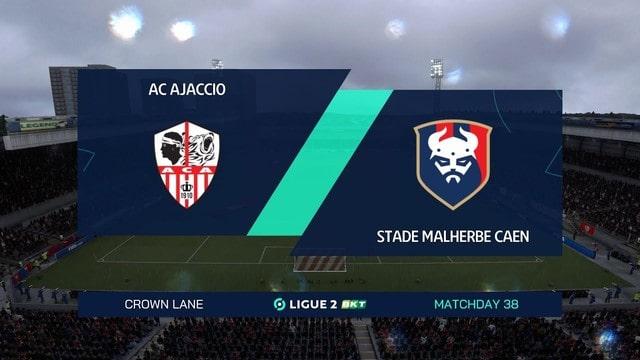 Ajaccio vs Caen, 00h00 - 26/08/2021 - Hạng 2 Pháp