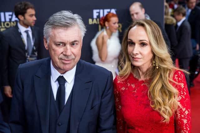 Carlo Ancelotti và vợ
