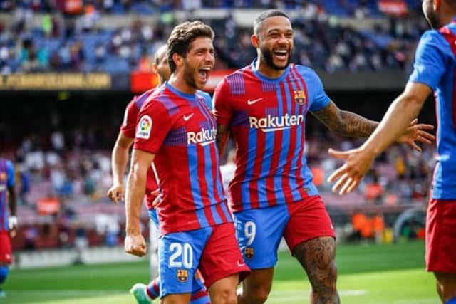 Roberto & Depay giúp Barca dẫn 2-1 trong hiệp 1