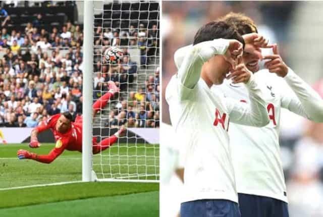 Tottenham lại dẫn trước đối thủ ở giải Ngoại hạng Anh mùa này khi Son Heung Min lập công