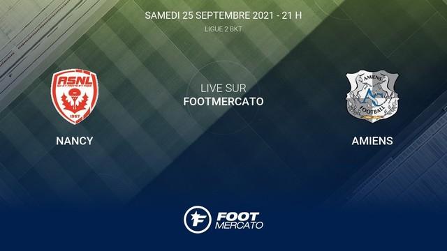Nancy vs Amiens, 02h00 - 25/09/2021 - Hạng 2 Pháp