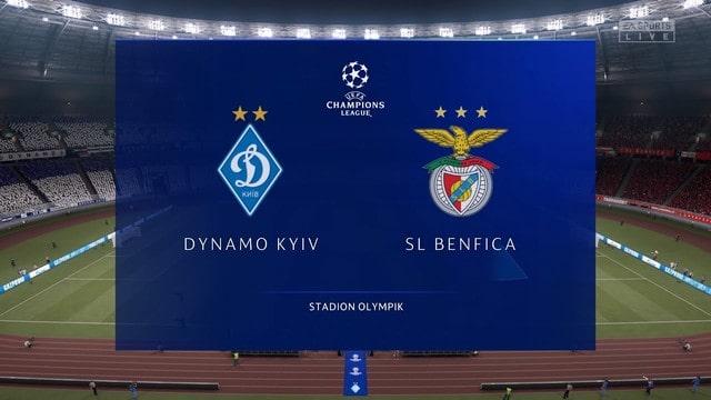Dynamo Kiev vs Benfica, 02h00 – 15/09/2021 – Champions League