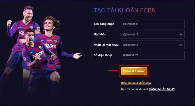 Cách thức đăng nhập vào FCB8