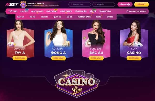 Sàn casino live Nbet cực kỳ hấp dẫn