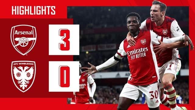 Video Highlight Arsenal - Wimbledon