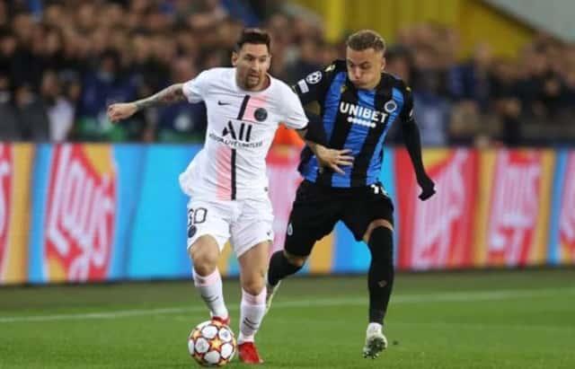 Messi bất lực nhìn PSG bị Club Brugge cầm hòa