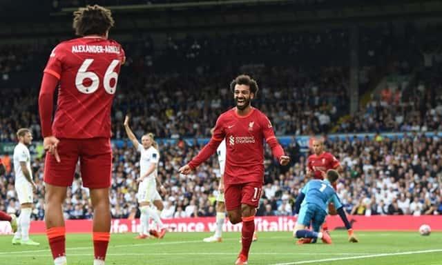 Salah mở tỷ số cho Liverpool trong hiệp 1