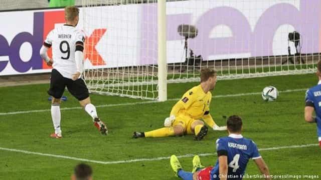Timo Werner bỏ lỡ cơ hội ngon ăn đầu trận nhưng vẫn ghi bàn quan trọng cho ĐT Đức trên sân của Liechtenstein