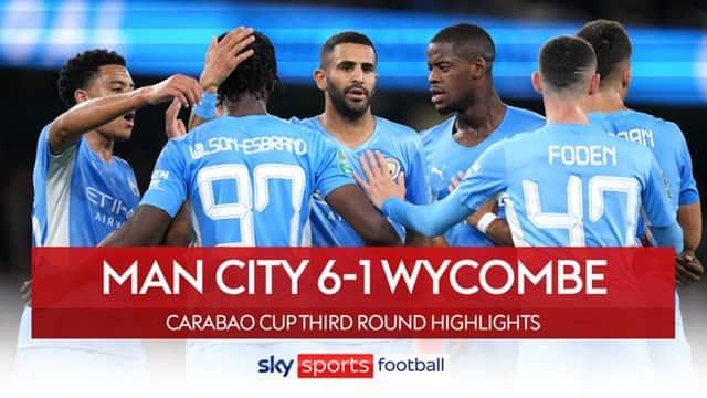 Video Highlight Man City - Wycombe