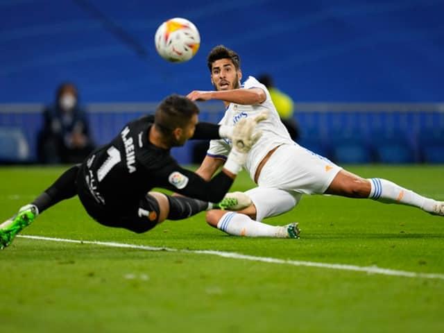 Asensio có một trận đấu cực hay với một hat-trick