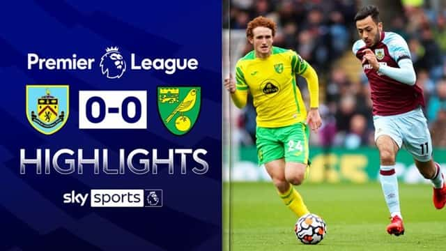 Video Highlight Burnley - Norwich